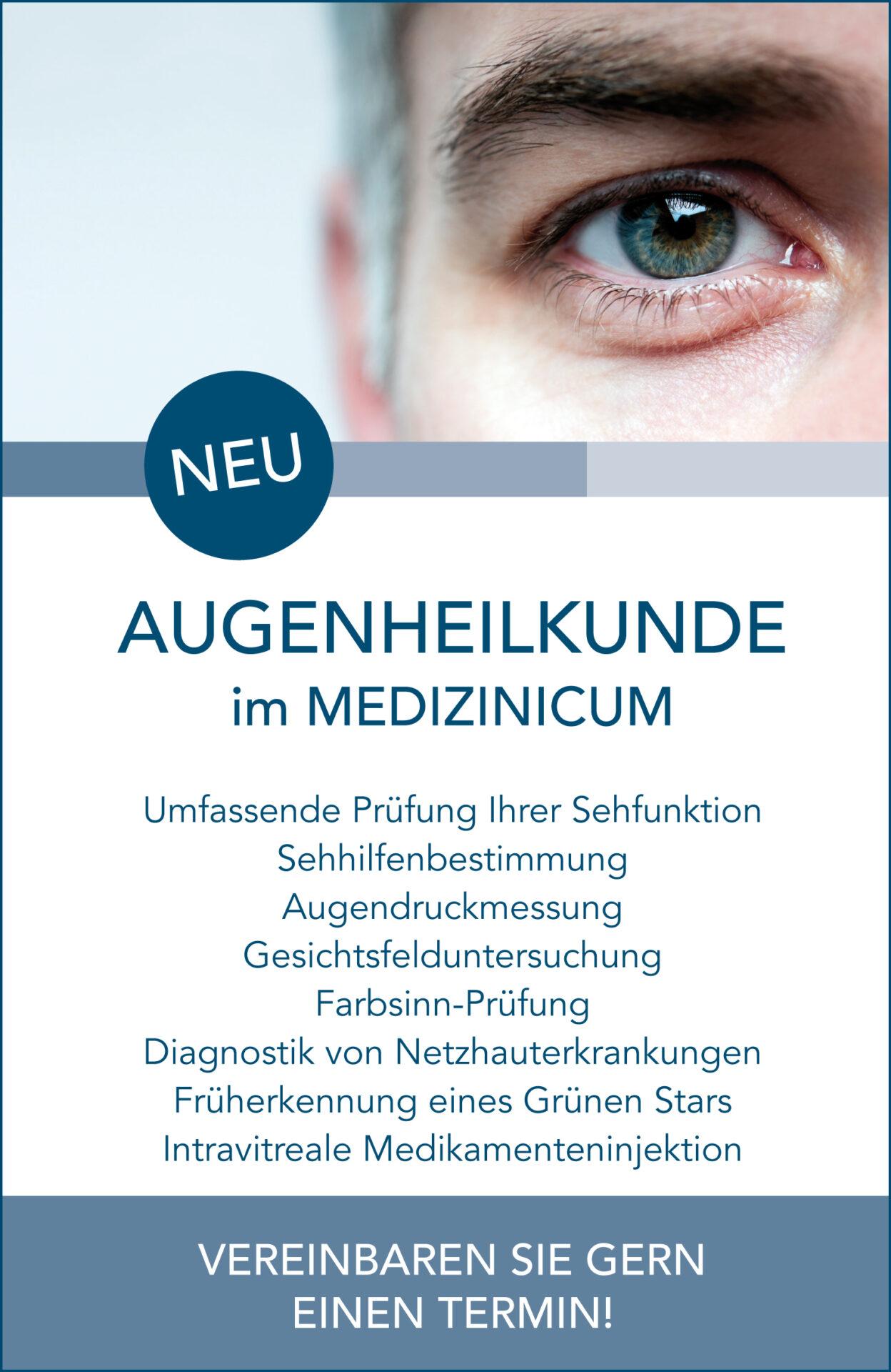 Augenheilkunde PopUp Hinweis - MEDIZINICUM Hamburg